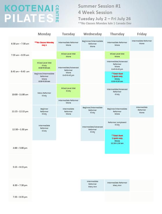 Kootenai-Pilates-Schedule-Winter-2019
